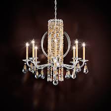 schonbek lighting rs8308n 22h sarella 8 light candle style chandelier heirloom gold