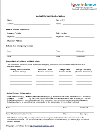 Printable Babysitter Medical Release Form Vuthanews Info