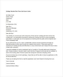 Writing A Letter Of Application For A Part Time Job