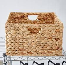 tall storage baskets. Contemporary Baskets Wayfair Basics Woven Hyacinth Storage Basket Set Set Of 2 With Tall Baskets