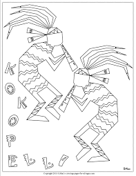 Kokopelli Indian Coloring Pages