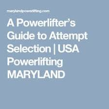 Usapl Attempt Chart 24 Best Usa Powerlifting Images Powerlifting Usa