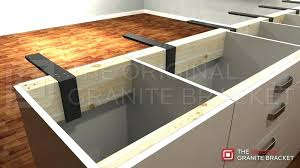 floating countertop bracket your can float with support brackets by the original granite