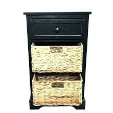 wicker bedside table cabinets tables classic rattan furniture basket side nz cab