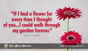Love Flower Quotes New Alfred Lord Tennyson Quotes On Flower And Love Themindquotes