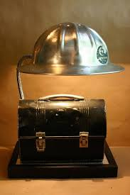 homemade lighting ideas. Delighful Homemade Alum Hard Hat And Lunch Box Lamp So Cool  Homemade LightingNovelty  And Lighting Ideas
