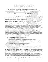 Free Nda Template Non Disclosure Agreement Sample Free Printable Documents