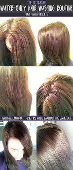 the ultimate water only hair washing routine post wash results natural lighting