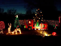 Holiday Lights Train Christmas Train And Holiday Lights Picture Free Photograph