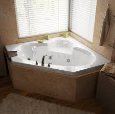 ... Bathtubs Idea, Corner Whirlpool Bathtubs 2 Person Jacuzzi Tub Indoor  Subli White Hydro: inspiring ...