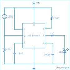 traffic light control electronic project using ic 4017 counter here we have explained a dark detector circuit by using 555 timer ic and a ldr light dependent resistor which senses the light in surroundings and if it