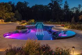 attractive swimming pool lights underwater for small swimming pool design ideas