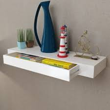 large white floating shelf wall display shelf