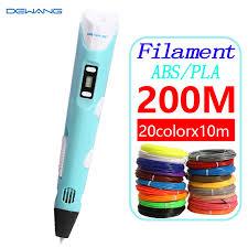<b>DEWANG</b> 3d printing modles pen 200M ABS/PLA filament <b>3d pen</b> ...