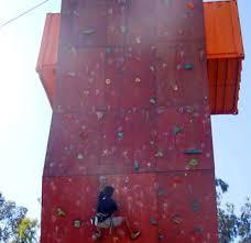 rock climbing wall for climbing