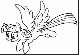 Awesome My Little Pony Coloring Pages Twilight Sparkle With Wings At