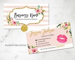Lipsense Business Cards Senegence Business Cards Lipsense Etsy