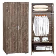 closet storage organizer wardrobe clothes rack furniture wooden two door end 2 am cabinet 1 ameriwood home kendrick wardrobe storage closet