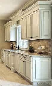 kitchen ideas antique white cabinets cream backsplash with for