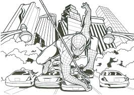spiderman coloring. Fine Coloring Printable Spiderman Coloring Pages Free Sheet    To Spiderman Coloring S
