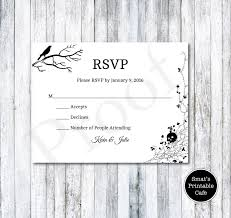 rsvp card template halloween wedding rsvp cards template diy printable gothic