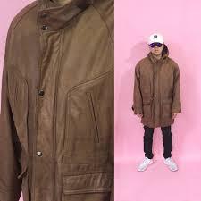 vintage hoo leather jacket trench coat pea coat cross colours iou hip hop new wave normcore 1990s 1980s 90s 80s