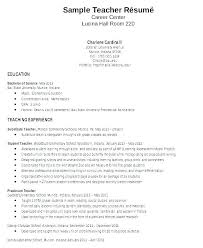 Resume Examples For Teachers With Experience Awesome Teachers Sample Resume Sample Resume Teaching Cover Letter Sample