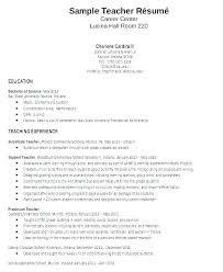 Teaching Resume Examples Beauteous Teachers Sample Resume R Resume On Error Sample Resume For B Ed
