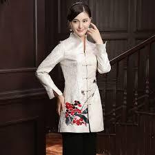 impressive embroidery frog on oriental style jacket