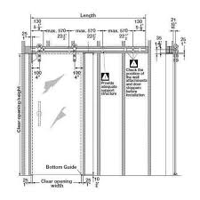 sliding glass door dimensions for