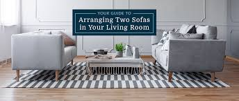 arranging two sofas in your living room