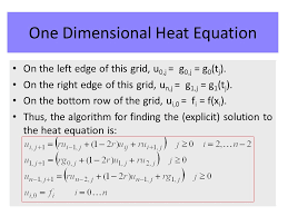one dimensional heat equation