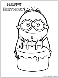 Before knowing it more, it is better for you to recognize what minion is. Happy Birthday Minion Coloring Pages Cartoons Coloring Pages Free Printable Coloring Pages Online