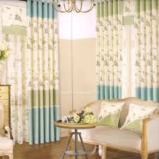 light green and blue kids room black curtain 2016 new arrival