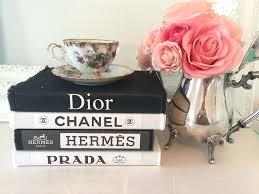 Designer Books Decor Magnificent Designer Inspired Labels Canvas Coffee Table Book Set Black White