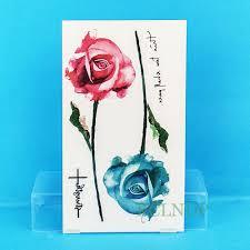 24 Návrhy Květinové Vodotěsné Dočasné Tetování Nálepka Lotus Leaf