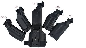 Safariland Glock 21 Light Bearing Holster Tactical Holster Military Special Forces Quick Release Right Hand Paddle Gear Safariland Leg Holster Gun M9 Gl17 1911 Usp P226