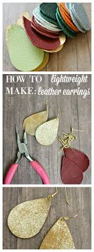 diy leather earrings these are lightweight easy to make customize