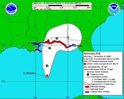 The dot indicating the forecast center. Hurricane Ida Weakens Projected Path Takes It Toward Alabama Gulf Coast Al Com