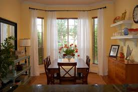 bay window curtains installation