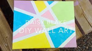 diy pinterest tumblr inspired canvas wall art daisy blake youtube