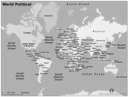 World Map Black And White Printable With Countries World Map Black And White With Countries And Travel Information
