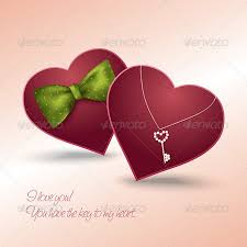 valentine s day card with two hearts in love valentines seasons holidays