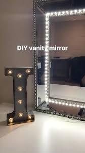 mirror lighting strips. diy vanity mirror i used any and led strip lights lighting strips 3