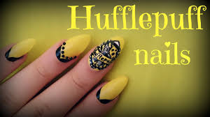 Harry Potter Nail Designs Harry Potter Hufflepuff Nail Art
