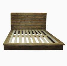 Amazing Rustic Finish Platform Bed In Popular Outstanding With