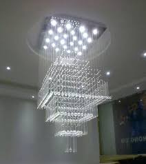 contemporary crystal chandelier modern contemporary crystal chandelier luxury square rain drop lamp clear led light staircase lighting fixture contemporary