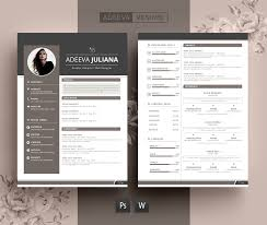 The Modern Resume Resume Template CV Template Adeeva Juliana 3