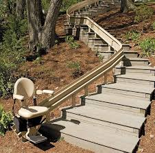 Curved stair chair lift Bruno Bruno Elite Outdoor Curved Stair Lift Dme Elevators Lifts Elite Outdoor Curve