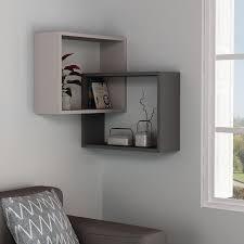 isabelle 2 piece wall shelf set